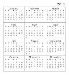 2015 Printable Calendar Template by Best Images Printable Calendar 2015