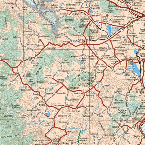 jalisco mexico map mapa de jalisco mexico