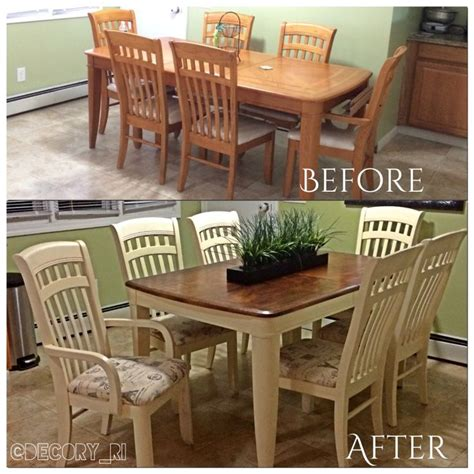 refinished dining table 90 s dining set goes from oversized eyesoar to chic