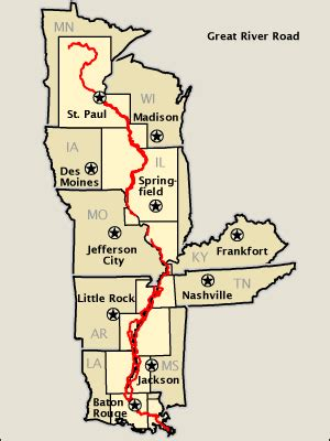great river road map   america's byways