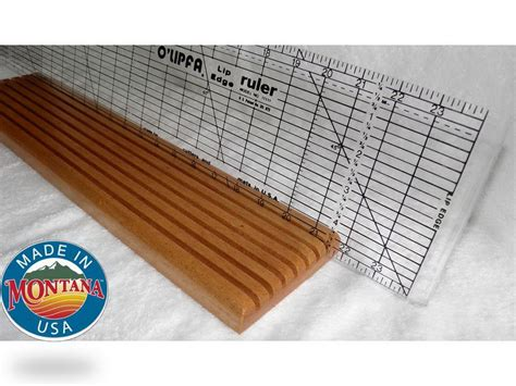 Quilting Ruler Holder by Quilting Ruler Holder 7 Slot Solid Mahogany 0804201306