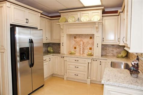 cream kitchen cabinets with glaze cream glaze kitchen cabinets with built in fridge yelp