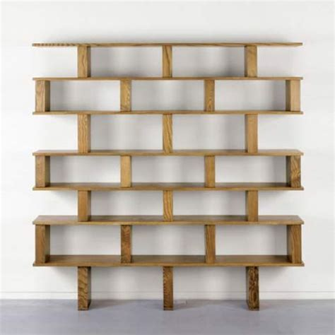 Shelving Unit Large Bookcase Shelving Unit In The Style Of