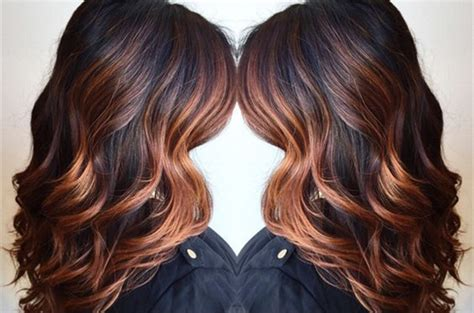 dark brown hair with copper highlights what s the best 20 shades of copper wonderful pumpkin spice hair for this