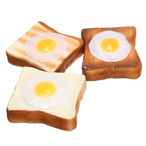 Squishy Toast by Meistoyland Squishy Bread Toast Slice With Egg Rising