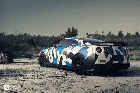nissan gtr wrapped camo the world s best photos of desert and wrap flickr hive mind