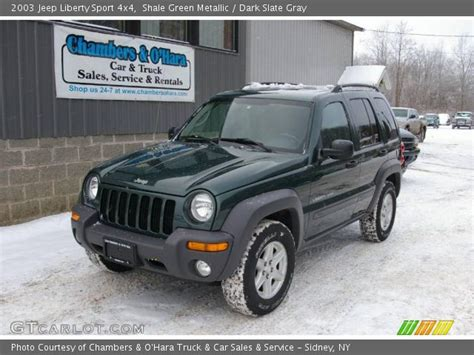 2003 green jeep liberty shale green metallic 2003 jeep liberty sport 4x4