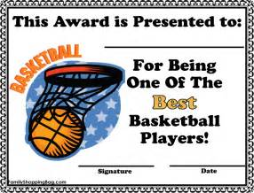 basketball award certificate templates basketball award certificate