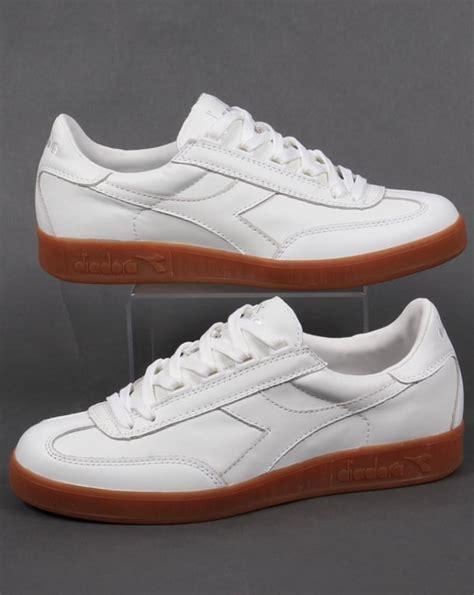 diadora b original premium trainers white gum s sneakers
