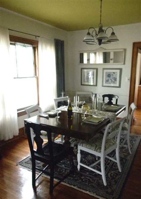 Houzz Small Dining Room Lighting Small Budget Dining Room Redesign Traditional Dining