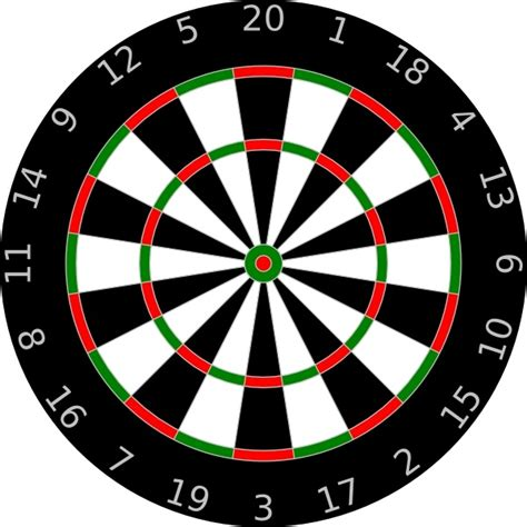 pattern of numbers on a dartboard dartboard clip art free vector in open office drawing svg