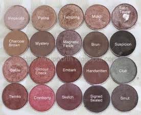 eyeshadow colors cosmetic fashion mac eye shadow swatch