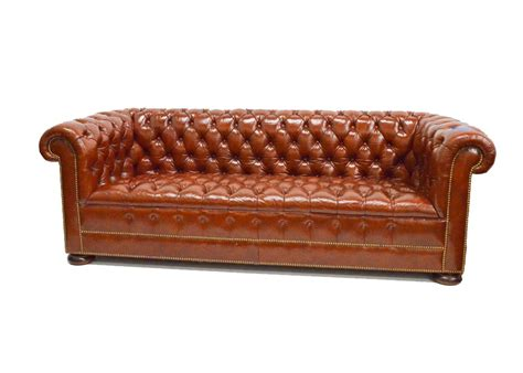 hickory chair leather sofa hickory chair furniture co tufted leather sofa ebth