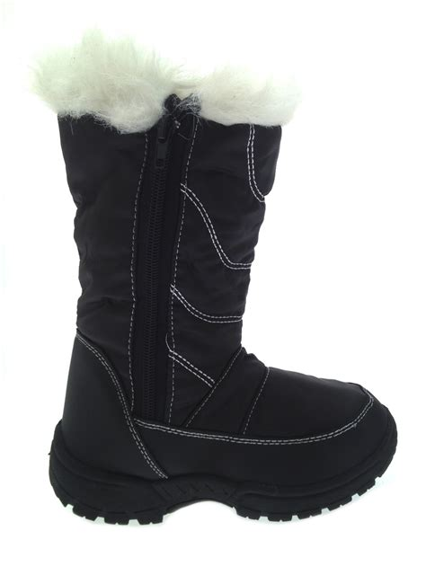 snow boots with fur boys waterproof sole snow boots fur trim mucker