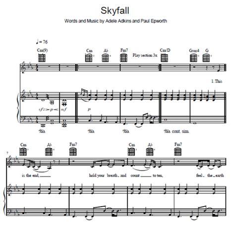 one and only adele pdf adele skyfall piano sheet music pdf skyfall adele piano