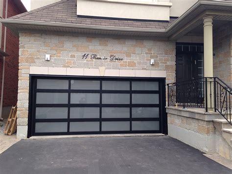 modern aluminum glass garage door  frosted door lites