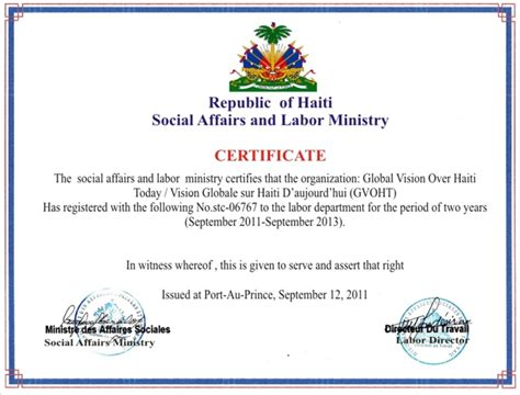 certificate of partnership template healthcare project in haiti corporate ngo partnerships