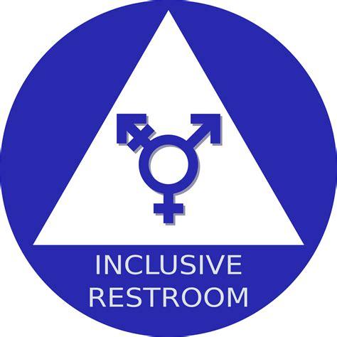 trans inclusive bathroom signs clipart gender neutral restroom sign