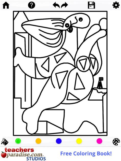 coloring book itunes picasso coloring coloring book for adults on the app store