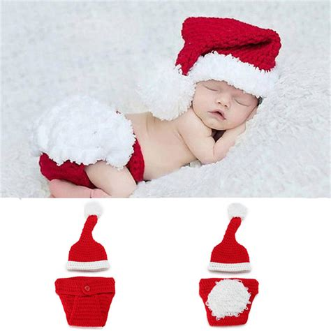 aliexpress com buy newborn baby santa claus photo props
