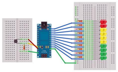 led bar graph resistors tuto utiliser un bargraphe avec un arduino letmeknow