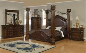 Canopy Bedroom Sets Providence Traditional Poster Canopy 5pc Queen Bedroom Set