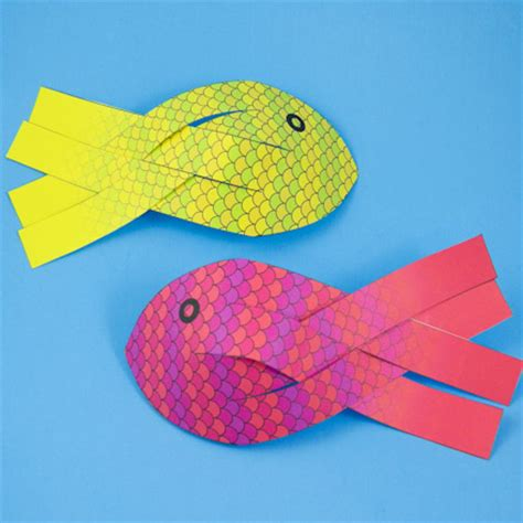 Paper Fish Craft - how to make 3d paper fish 3d paper crafts s