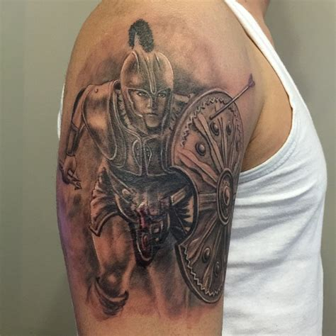 achilles tattoo achilles on shoulder by erdoğan 199 avdar