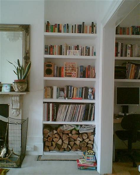 dad built this living room shelf alcoves with floating shelves peter murphy carpentry