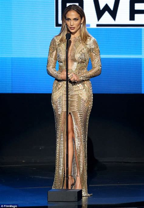 top 10 american music award jennifer lopez stuns in 10 sexy outfits to host the 2015