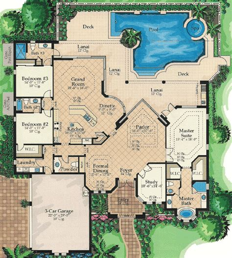 Lanai Access For All 24104bg 1st Floor Master Suite Lanai House Plans
