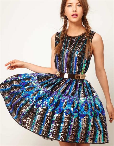 super sparkly dress from asos what to wear fashion