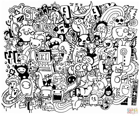 free doodle doodle mash up coloring page free printable coloring pages