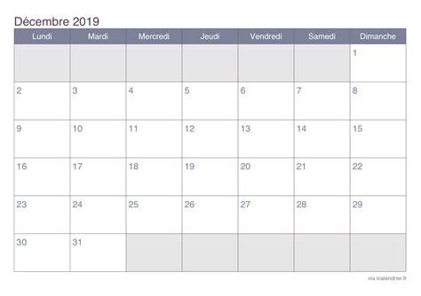 Calendrier Microsoft Office Calendrier D 233 Cembre 2019 224 Imprimer Icalendrier