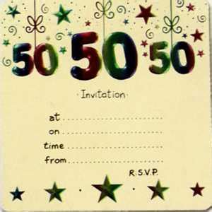 50th birthday invitation templates best template collection