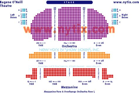 eugene oneill theatre seating views eugene o neill theatre on broadway
