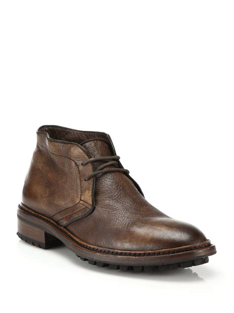 chukka boots to boot clemmons deerskin chukka boots in brown for