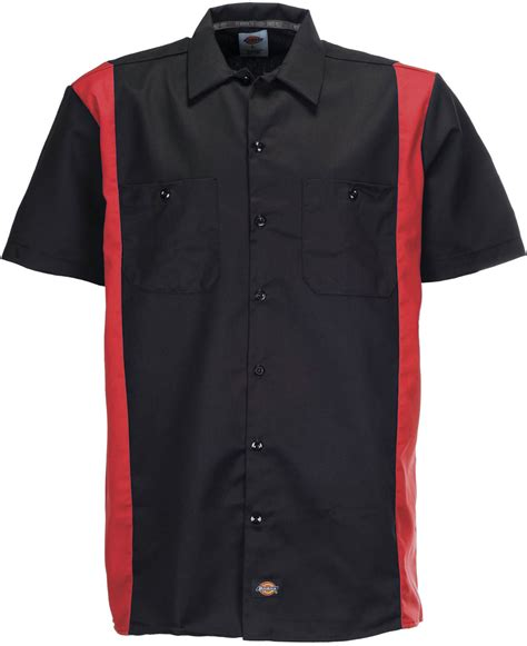 Two Tone Sleeved Shirt dickies two tone work sleeved shirts black