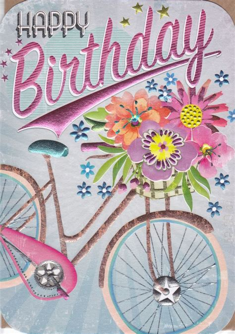 Bicycle Cyclist Blue Cards bike birthday card images bicycling and the best bike ideas