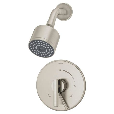 Symmons Shower by Symmons Dia 1 Handle Shower Faucet System In Satin Nickel S 3501 Cyl B Stn The Home Depot