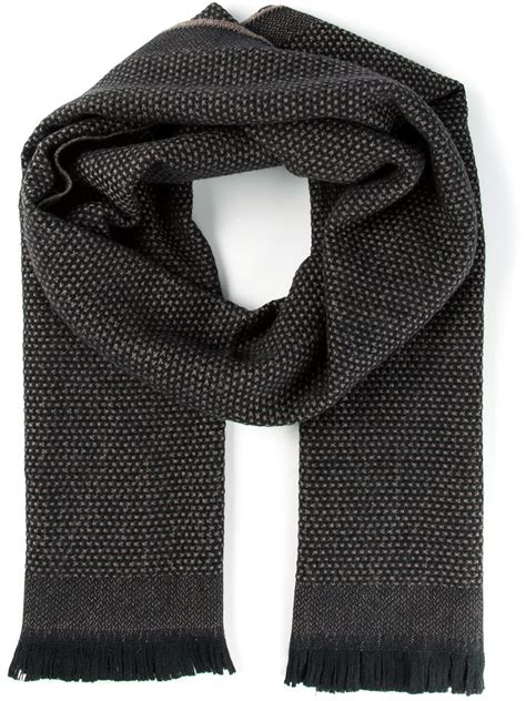 tom ford embroidered scarf in black for lyst