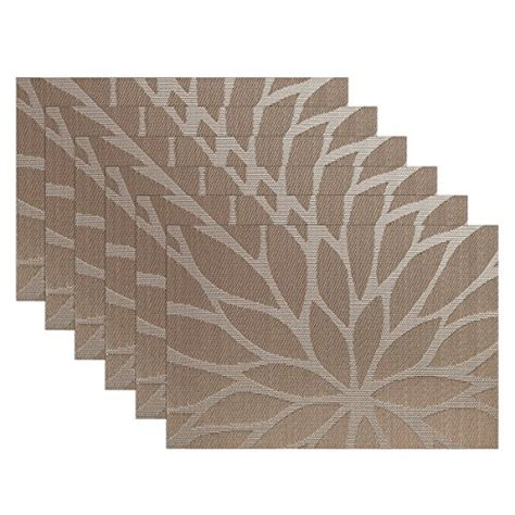 dining room placemats sicohome placemats set of 6 dining room placemats for