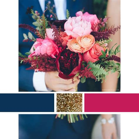 navy blue wedding color schemes wedding color scheme inspiration navy raspberry and