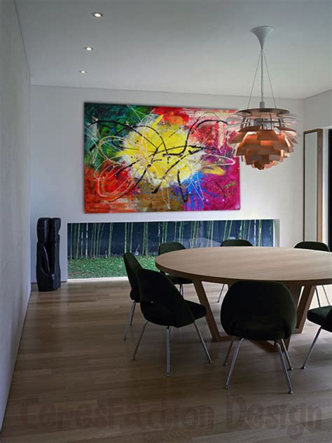 abstract art enhances traditional dining room abstract modern dining room tel aviv by ceres art