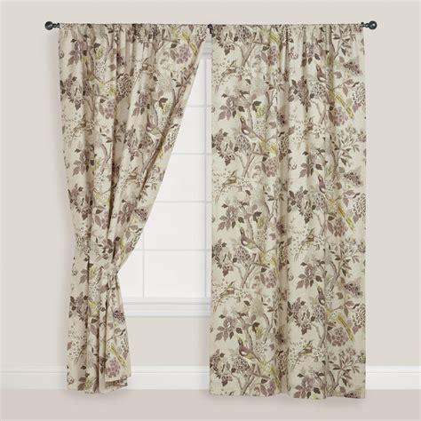 bird curtains drapes bird print whippoorwill curtain world market
