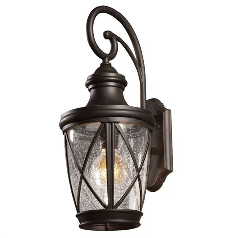 shop allen roth castine 20 2 8 in rubbed bronze outdoor