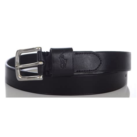 polo ralph black leather belt polo ralph