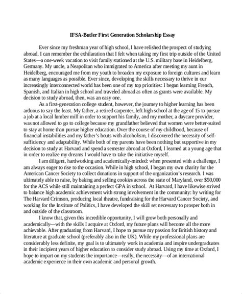 Format For Scholarship Essay by Format Of A Scholarship Essay Exle