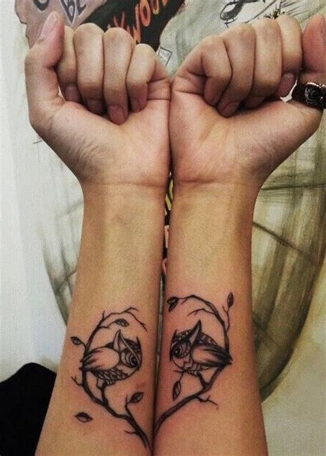 couples tree tattoos 40 creative best friend tattoos hative
