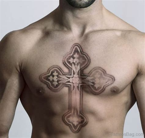 59 good looking cross tattoos designs for chest cross tattoos on chest www pixshark com images